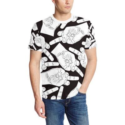 3D定制男士宽松T恤整件来图定制